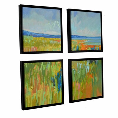 'Lake Shore II 4' Piece Framed Painting Print Set Size: 36