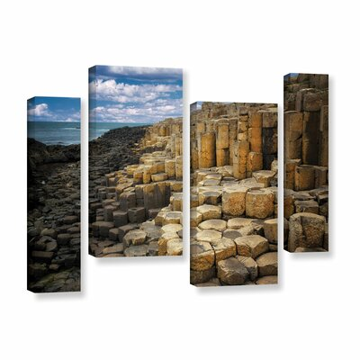 Brick Beach by Dennis Frates 4 Piece Photographic Print on Gallery Wrapped Canvas Set Size: 36