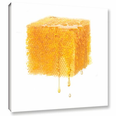 'Bees Work Objectified' by Floriana Barbu Graphic Art on Wrapped Canvas Size: 18