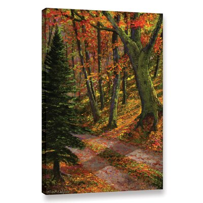 'September Road' by Frank Wilson Painting Print on Wrapped Canvas Size: 36