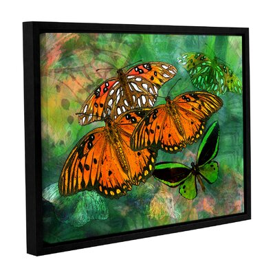 "Orange Butterfly Fantasy II Framed Graphic Art Size: 8"" H x 10"" W WDMG3279 33283387"