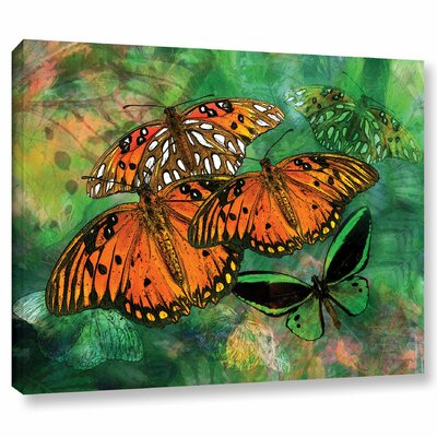 "Orange Butterfly Fantasy II Graphic Art on Wrapped Canvas Size: 8"" H x 10"" W WDMG3293 33283401"