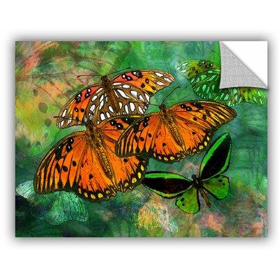 "Melinda Bradshaw Butterfly Fantasy II Wall Mural Size: 14"" H x 18"" W 6bra005a1418p"