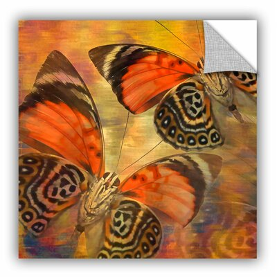 "Melinda Bradshaw Butterflies II Wall Mural Size: 14"" H x 14"" W 6bra023a1414p"