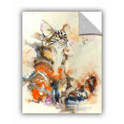 """Fluffy Cat 2 Wall Mural Size: 32"""" H x 24"""" W x 0.1"""" D 0cha069a2432p"""
