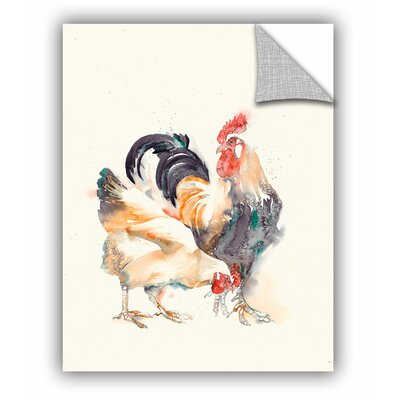 Rooster 3 Wall Mural Size: 18