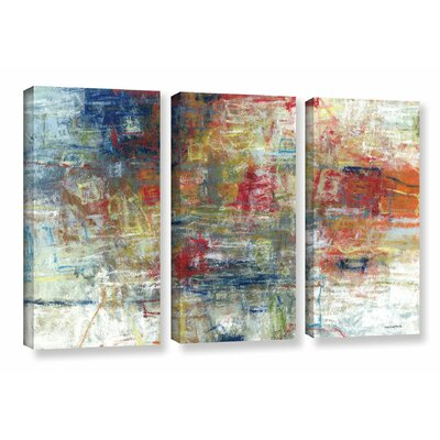 'Rejoice' by Norman Wyatt JR 3 Piece Painting Print on Wrapped Canvas Set Size: 36