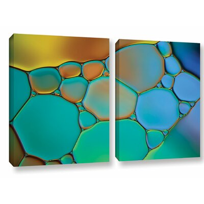 'Connected II' by Cora Niele 2 Piece Graphic Art on Wrapped Canvas Set 0nie018b1828w