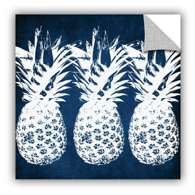 'Indigo Pineapple' Graphic Art Size: 14