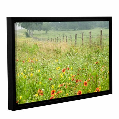 'Flowers and Fences' by Karin Connolly Framed Photographic Print Size: 32