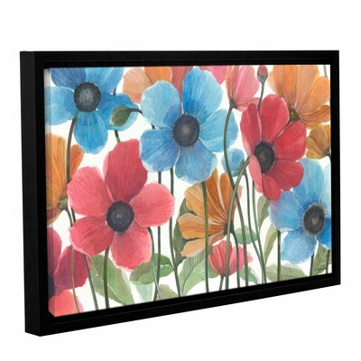 'Garden Beauties' by Norman Wyatt Jr Framed Painting Print on Wrapped Canvas Size: 32