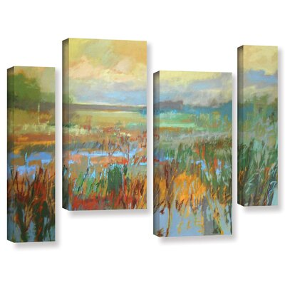 'Marsh in May' by Jane Schmidt 4 Piece Painting Print on Wrapped Canvas Set Size: 36