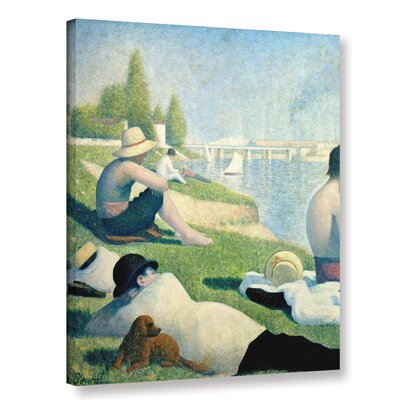 'Bathers at Asnieres' by Georges Seurat Painting Print on Wrapped Canvas Size: 36