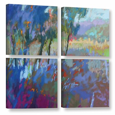 'Color Field 44' by Jane Schmidt 4 Piece Painting Print on Wrapped Canvas Set Size: 48