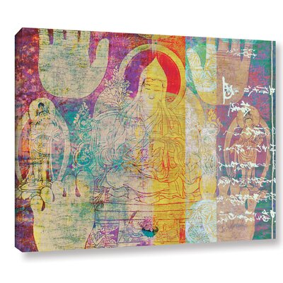 'Hi-Five Buddha' by Elena Ray Graphic Art on Wrapped Canvas 0ray193a0810w