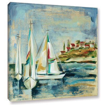Sailboats I Painting Print on Wrapped Canvas