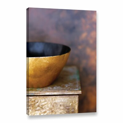 'Gold Bowl II' by Elena Ray Photographic Print on Wrapped Canvas 0ray180a1218w