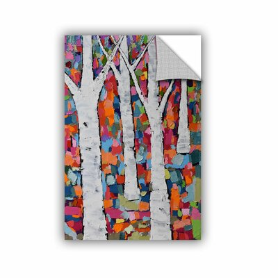 "Michelle Rivera Vibrant Forest Wall Mural Size: 18"" H x 12"" W x 0.1"" D 6riv004a1218p"