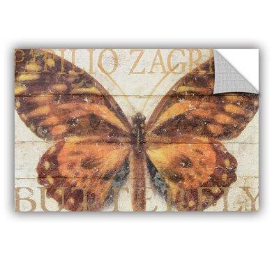 "Cora Niele Butterfly Wood Series II Wall Mural Size: 8"" H x 12"" W x 0.1"" D 3nie083a0812p"