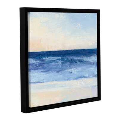 "'True Blue Ocean II' by Julia Purinton Framed Painting Print Size: 10"" H x 10"" W x 2"" D 2pur039a1010f"