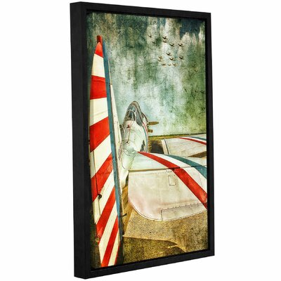 'Standing '  Framed Graphic Art Print On Wrppaed Canvas Size: 12
