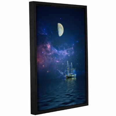' Way Of The Moon And Stars'  Framed Graphic Art Print On Wrppaed Canvas Size: 12