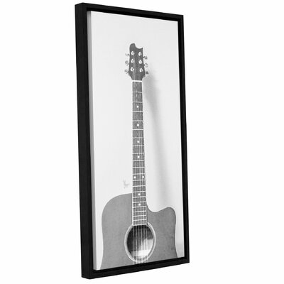 'Grayscale Acoustic Guitar'  Framed Painting Print On Canvas VRKG2138 38303592