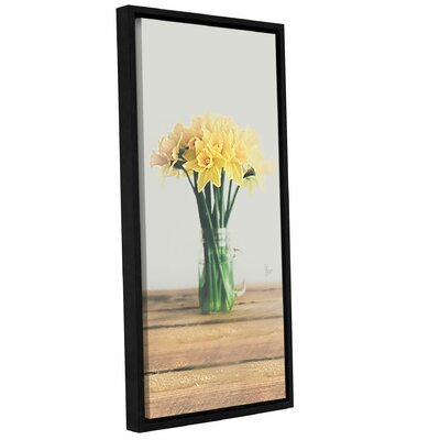 'Daffodils in Mason Jar' by Scott Medwetz Framed Photographic Print on Canvas 0med294a0612f