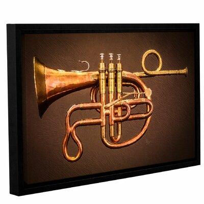 'Cornopean Horn'  Framed Painting Print On Canvas Size: 12
