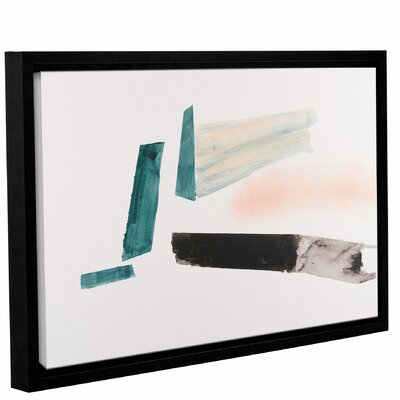 'Architerctural Islands Of Isolation'  Framed Painting Print On Wrapped Canvas Size: 12