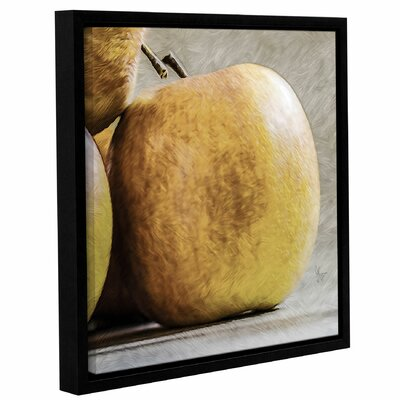 'An Apple A Day' Framed Painting Print on Wrapped Canvas Size: 10