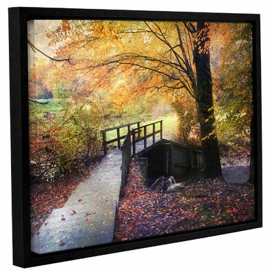 'Foot Bridge'  Framed Photographic Print On Wrppaed Canvas Size: 14