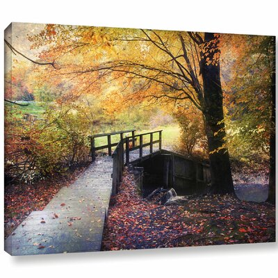 'Foot Bridge'  Photographic Print On Wrapped Canvas Size: 14