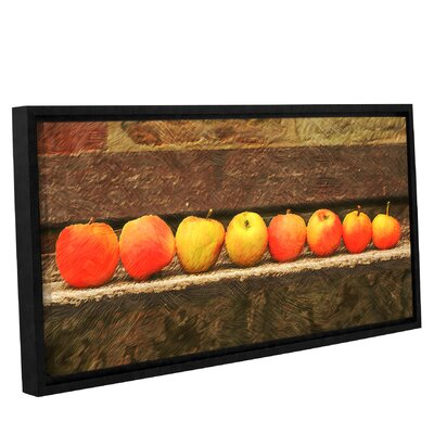 'Apple Line Up'  Framed Photographic Print On Canvas Size: 12