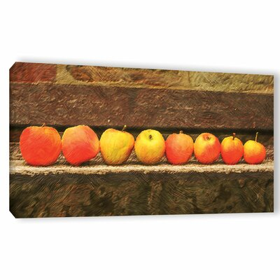 'Apple Line Up'  Painting Print On Wrapped Canvas Size: 12