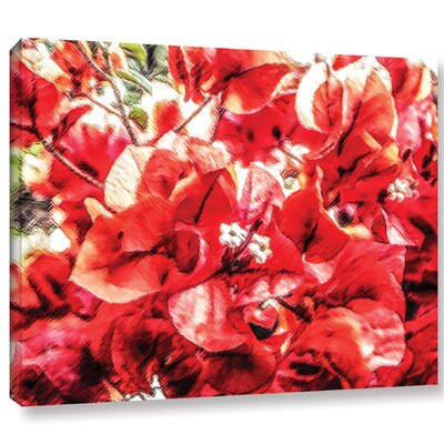 'Venetian Red Bouquet'  Painting Print Multi-Piece Image On Wrapped Canvas Size: 14