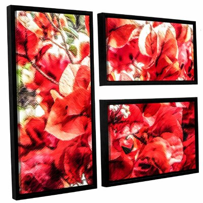 'Venetian Red Bouquet'  Framed Painting Print Multi-Piece Image On Canvas