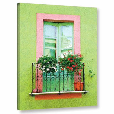 'French Green Wall'  Photographic Print On Wrapped Canvas Size: 10
