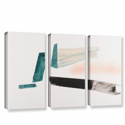 'Architerctural Islands Of Isolation'  Painting Print Multi-Piece Image On Wrapped Canvas Size: 24