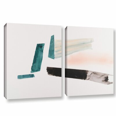 'Architerctural Islands Of Isolation'  Painting Print Multi-Piece Image On Wrapped Canvas Size: 18