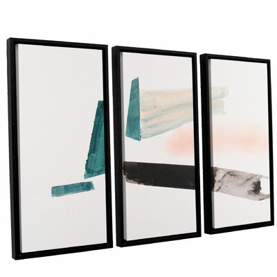 'Architerctural Islands Of Isolation'  Framed Painting Print Multi-Piece Image On Canvas Size: 24