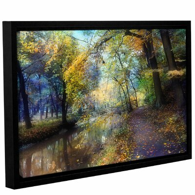 'Autumn Walk'  Framed Photographic Print On Wrppaed Canvas Size: 12