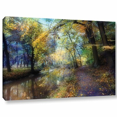 'Autumn Walk'  Photographic Print On Wrapped Canvas Size: 12