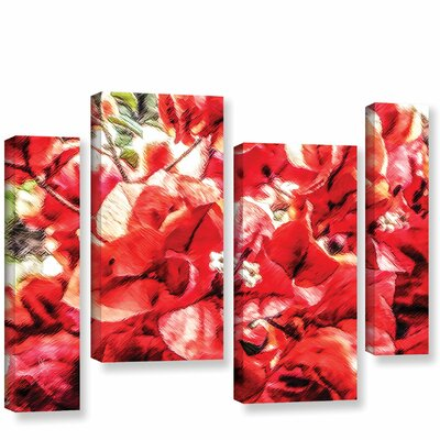 'Venetian Red Bouquet'  Painting Print Multi-Piece Image On Wrapped Canvas Size: 24