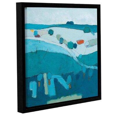 'Blue Hills' Framed Print on Wrapped Canvas Size: 10