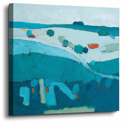 'Blue Hills'  Painting Print On Wrapped Canvas Size: 10
