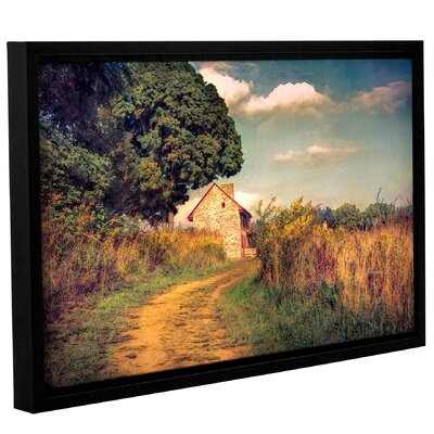 'Webb Farm House'  Framed Graphic Art Print On Wrppaed Canvas Size: 12
