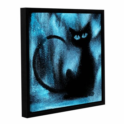 'Space Cat' Framed Graphic Art Print on Canvas Size: 10