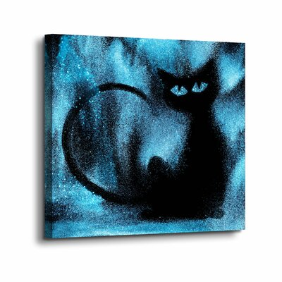 'Space Cat' Graphic Art Print on Canvas Size: 10