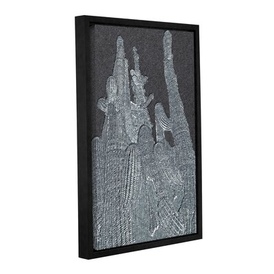 'Saguaro Grey' Framed Graphic Art Print on Canvas VRKG2809 38996718